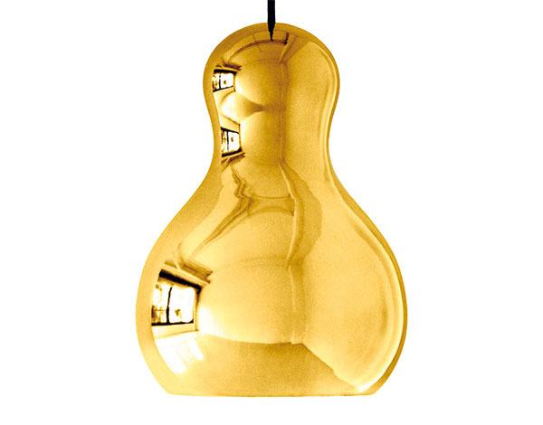 Luster Lightyears Calabash P3 od Komplot Design, hliník schrómovým lakom, zlatá farba, výška 48,5 cm, priemer 34 cm, 587 €, www.finnishdesignshop.com