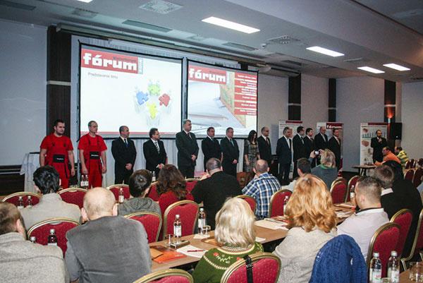 Organizačný tím odborného seminára Wienerberger fórum 2014