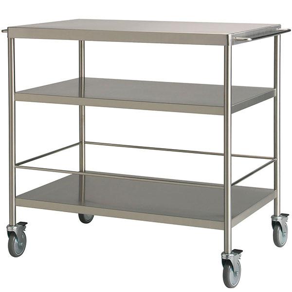 Kuchynský vozík Flytta, nehrdzavejúca oceľ, kolieska sbrzdou, 98 × 57 × 86 cm, 149 €, IKEA