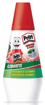 Disperzné lepidlo Pritt Gamafix je vhodné na lepenie papiera, fotografie, korku, kože, plsti, textilu a ďalších materiálov. Zvládnete s ním aj servítkovú techniku, pretože okrem lepenia ním môžete servítky aj zalakovať. Nám sa osvedčilo pri lepení aj lakovaní fotografií.