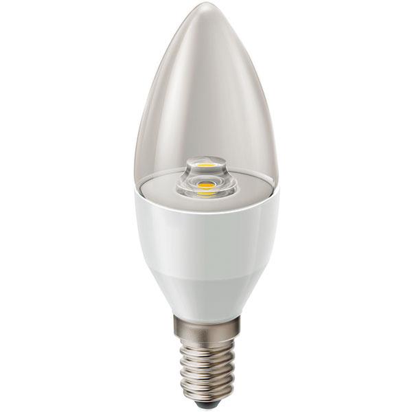 Panasonic Candle Type LED, 4,W (15 W), pätica E14, teplá biela (2700 K), priesvitná žiarovka, svetlo okamžite po zapnutí, životnosť 15 rokov (15000 hodín), 100000 spínacích cyklov, energetická účinnosť A, 12,49 €