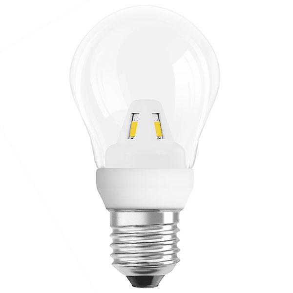 Osram LED Star Classic A, 2 W (15 W), pätica E27, teplá biela (2700 K), priesvitná žiarovka, svetlo okamžite po zapnutí, životnosť 15 rokov (15000 hodín), 100000 spínacích cyklov, energetická účinnosť A+, 10 €