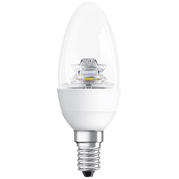 Osram LED Superstar Classic B advanced, 6 W (40 W), pätica E14, teplá biela (2700 K), priesvitná žiarovka, svetlo okamžite po zapnutí, životnosť 20 rokov (20000 hodín), 100000 spínacích cyklov, energetická účinnosť A+, 15 €