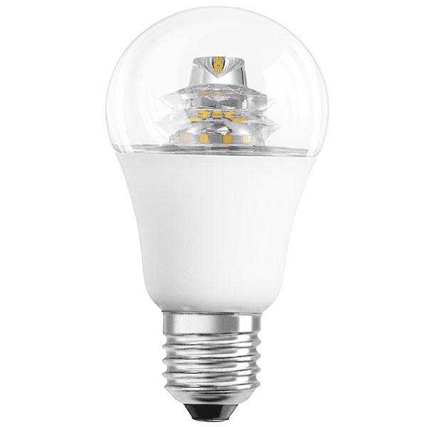 Osram LED Superstar Classic Aadvanced, 6 W (40 W), pätica E27, teplá biela (2700 K), priesvitná žiarovka, svetlo okamžite po zapnutí, životnosť 20 rokov (40000 hodín), 100000 spínacích cyklov, energetická účinnosť A+, 15 €