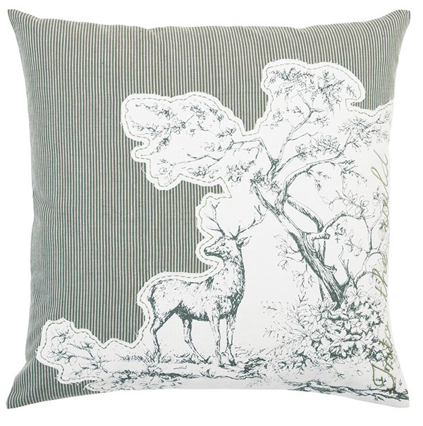 Into the Wild (vústrety divočine), 100 % bavlna, ručne tkaný, 50 × 50 cm, 19,87 €, www.almara-shop.cz