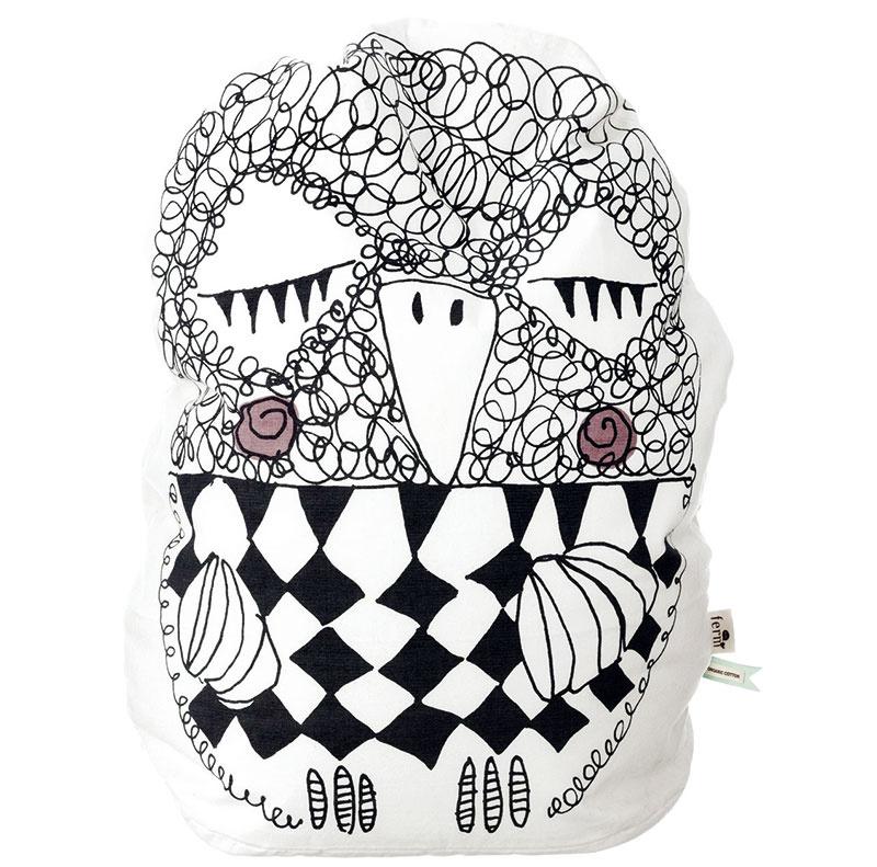 Olivia Bean Bag, 100 % organická bavlna, výška 60 cm, 105 €, www.fermliving.com