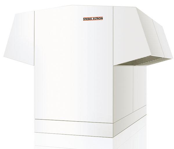 Tepelné čerpadlo vzduch – voda WPL 34 – 57, vhodné aj na zapojenie do kaskády na zvýšenie výkonu, teplota vykurovacej vody až +60 °C, integrované počítanie množstva tepla aprúdu, www.stiebel-eltron.sk
