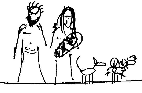 zľava: Juraj, Beátka s Jakubkom, Klára, Mia (perovka: Juraj Tesák)