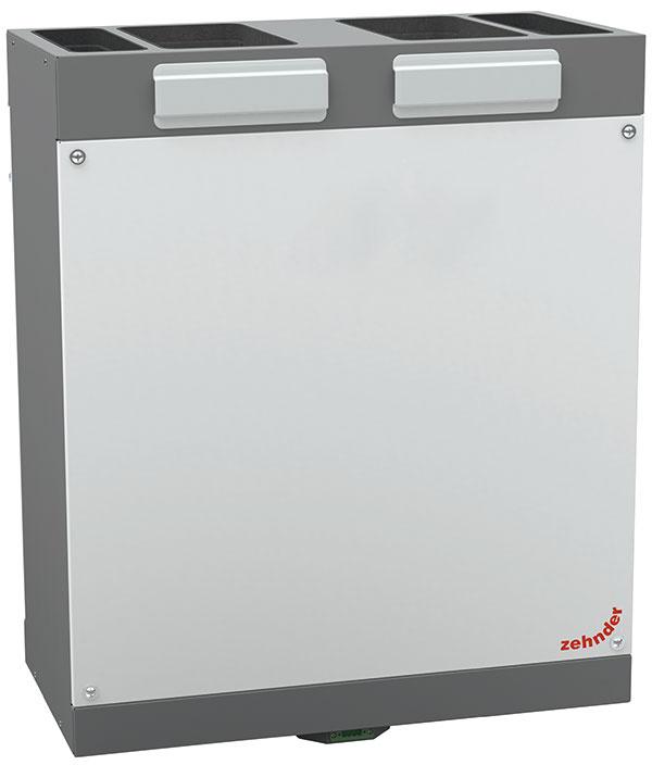 Malý priestorový zázrak, veľká účinnosť: Nová vetracia jednotka Zehnder ComfoAir 180 sa zmestí do každej závesnej kuchynskej skrinky. Podľa potreby môže zásobovať vzduchom byty s podlahovou plochou až 120 m² a pomocou entalpického výmenníka navyše regulovať vlhkosť vzduchu.