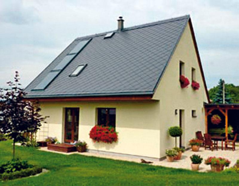 1 Energeticky pasívny rodinný dom Koberovy, Atrea, s. r. o., zastavaná plocha 84 m2, podlahová plocha 131 m2, obytná plocha 82 m2, dispozícia 5 + kk