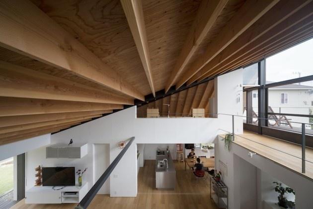 Šikmé vysoké stropy ponúkajú viac priestoru na bývanie. Napríklad ...
