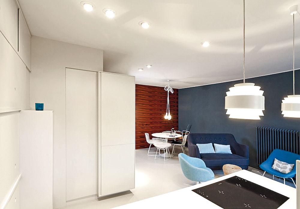 Novú dispozíciu navrhli architekti vduchu dnešných požiadaviek na pohodlné bývanie. Veľkú časť bytu zaberá otvorený denný priestor, ktorého súčasťou je kuchyňa, obývačka ajedáleň.