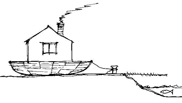 Základy domu vzáplavovej zóne (perovka: Juraj Tesák)