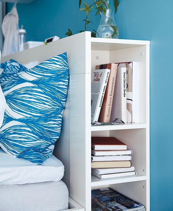 Čelo spriehradkou BRIMMES, 146 (166, 186) × 28 × 111 cm, na šírku matraca 140, 160 alebo 180 cm, základný materiál – drevotrieska, fólia, panel – drevovláknitá doska, fólia, od 79,90 €, IKEA