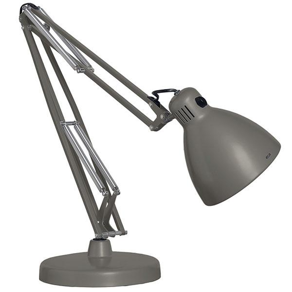 """Originálny derivát Luxo L-1. Od 30. rokov minulého storočia vyrábal lampu Anglepoise rodinný podnik Terryovcov. Tí tiež vlastnili licenciu na jej distribúciu vkrajinách Commonwealthu. Inde po svete ju zas rozšíril Jac Jacobsen, ktorý sa do jej geniálnej konštrukcie zamiloval avpolovici 30. rokov licenciu od Carwardinea odkúpil. Vrodnom Nórsku založil podnik LUXO, kde originál aneskôr vlastnú vylepšenú podobu – škandinávsky vľúdny model L-1 – vyrábal. Práve jeho """"el-jednotka"""" sa stala celosvetovou predlohou pre podobne konštruované lampy. Od 98 £, LUXO/GLAMOX"""