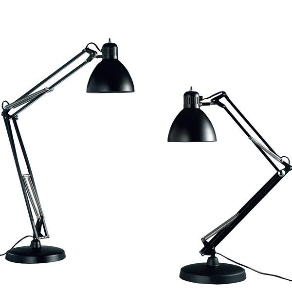 Pracovná lampa Naska vznikala vtom istom období ako Anglepoise aLuxo L-1. Rozvíja rovnakú tému, efektívne osvetlenie snastaviteľnými ramenami, podobnými dizajnérskymi prostriedkami. Aj vprípade variantu Naska sú ramená vželanej pozícii udržiavané pružinami asvetelný tok usmerňuje parabolicky vytvarovaný plechový klobúk. Anonymný návrh pochádza zarchívu talianskej spoločnosti Fontana Arte, ktorá uprostred 20. storočia aj zásluhou dizajnérov Gia Pontiho či Pietra Chiesa významne ovplyvnila dizajn svietidiel. 204 €, FONTANA ARTE