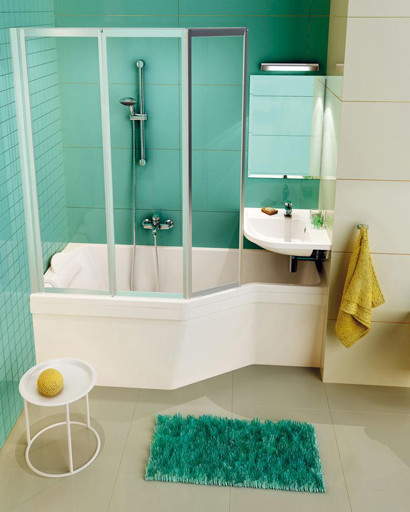 Originálny a ergonomický koncept kúpeľní Ravak BeHappy vám pomôže aj na minimálnu plochu umiestniť vaňu kombinovanú so sprchovacím kútom aumývadlom. Navyše tým vôbec nestráca na estetike. Práve naopak.
