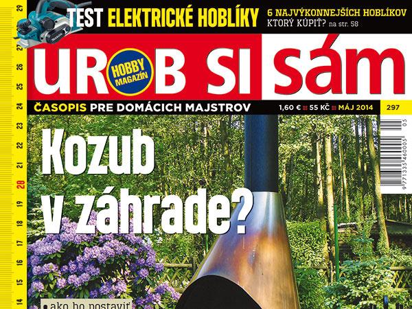 Májové vydanie časopisu Urob si sám v predaji!