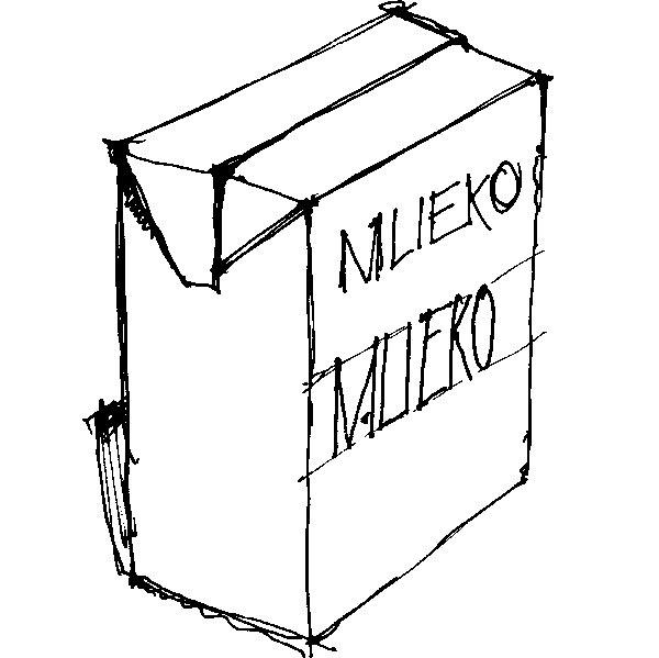 Škatule od mlieka možno zrecyklovať na kvalitný stavebný materiál –tetradosku. (perovka: Juraj Tesák)