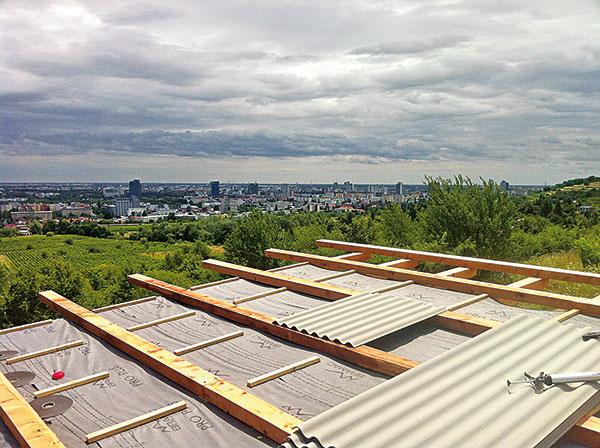 Vďaka veľkým strešným plátom ajednému sklonu strechy architekt ušetril namateriáli.