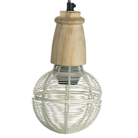 Stropná lampa Ball white, Madam Stoltz, priemer cylindra 15 cm, výška 25 cm, 39,14 €, www.nordicday.sk