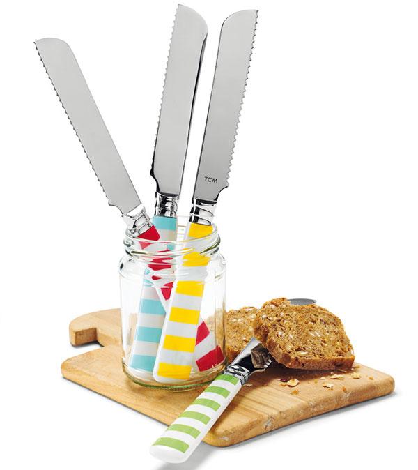 Raňajkové nože, dĺžka 21 cm, 7,95 €/4 ks, www.tchibo.sk