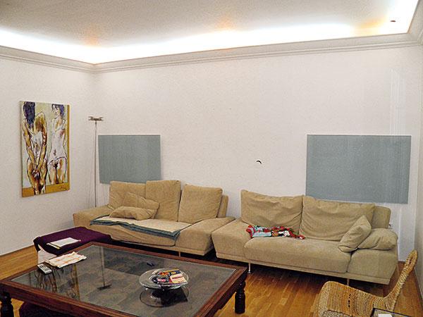 Sálavé panely lemujúce strop