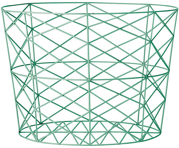 Drôtený kôš, priemer 55, výška 40 cm, 119 €, www.bloomingville.com