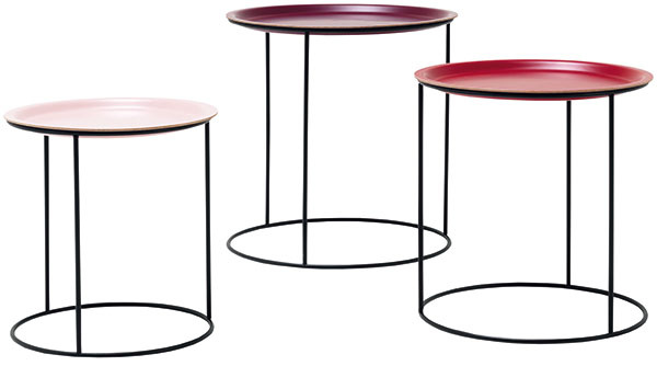 Súprava troch konferenčných stolíkov Cartanega, priemer 50; 45; 40 cm, 312 €, BoConcept, Light Par