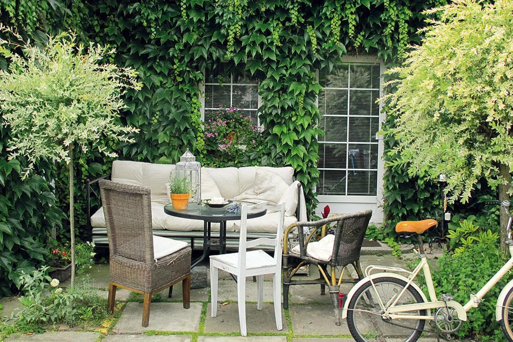 Anglická záhrada včeských podmienkach – to je kombinácia, ktorej výsledkom je romantické zátišie určené na posedenie srodinou či priateľmi. Sila prekrásneho paviniča tkvie vtroch jednoduchých veciach – atmosféra, atmosféra aznovu len atmosféra. Aj ztoho najobyčajnejšieho domu dokáže vykúzliť chalúpku sočarujúcim pôvabom.