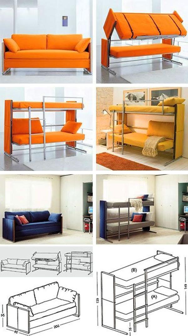 11 originálnych riešení, ako v byte umiestniť posteľ a ušetriť priestor