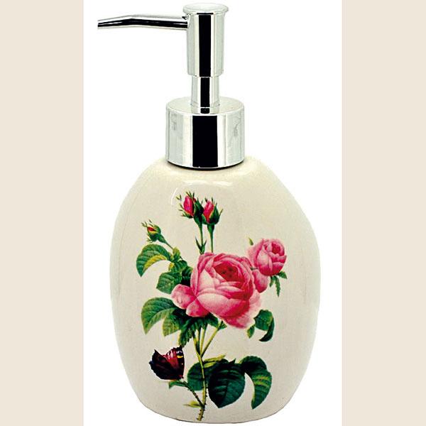 Dávkovač na mydlo Ruže, 9 × 11 × 17 cm, keramika, 8,99 €, www.bambu.sk