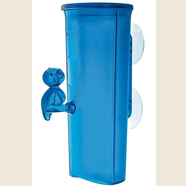 Zásobník na kozmetické tampóny Florence, od firmy Koziol, sprísavkami, 12 × 8,20 × 19,90 cm, plast, rôzne farby, 24 €, www.designea.sk