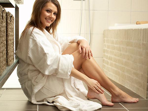 Rohože DEVImat™ sú vhodné na inštaláciu podlahového vykurovania v malometrážnych priestoroch, napríklad v kúpeľniach.