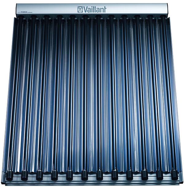 Modulárny zásobníkový systém MSS značky Vaillant so zásobníkom allSTOR exclusiv + vákuové trubicové alebo ploché kolektory + kondenzačný kotol ecoTEC plus