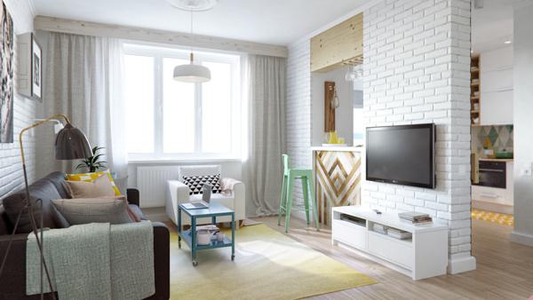 Malý, ruský a neškodne farebný byt