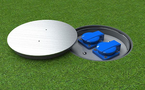 Vonkajšia zásuvka s dostatočným krytím (IP67) proti vode alebo prachu.