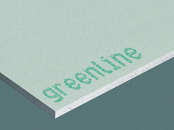 Sadrovláknitá doska Fermacell greenline, malá doska 10 × 1 000 × 1500 mm, veľká doska 12,5 × 1 250 × 3 000 mm