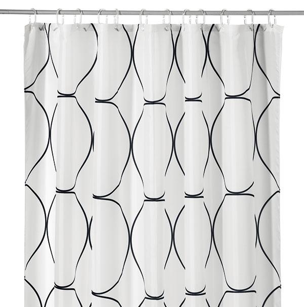 Sprchový záves UDDGRUND, 200 × 180 cm, 7,99 €, IKEA
