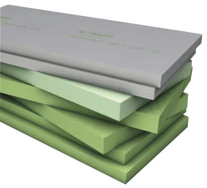 Izolačné dosky z extrudovaného polystyrénu Isover Styrodur určené na zateplenie soklových častí obvodových plášťov budov, suterénnych stien a podláh.