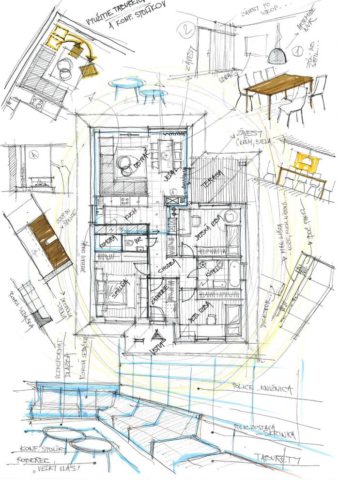 Návrh interiéru katalógového rodinného domu