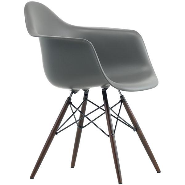 Obľúbenú stoličku Eames Plastic Armchair vEurópe vyrába švajčiarska Vitra. Ponúka ju vmnožstve farieb, skovovými, drôtenými či drevenými nohami. Dostupné je tiež hojdacie kresielko alebo verzia bez opierok, známa ako Eames Plastic Side Chair. Od 279€ (podľa vyhotovenia apodnože), VITRA, predáva Konsepti (www.konsepti.sk).
