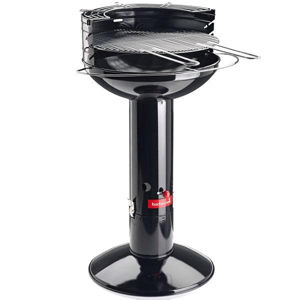 Mountfied Barbecook Major Black  Vyhotovenie: stojanový gril zo smaltovaného plechu Ohnisko: kruhové, priemer 50 cm, sekundárny rošt Rozkurovanie: quick-start cez ohnisko vnohe Regulácia: klapka ťahu pod ohniskom, výškové nastavenie roštu
