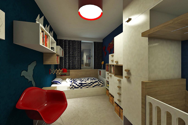 Návrh detskej izby a pracovne