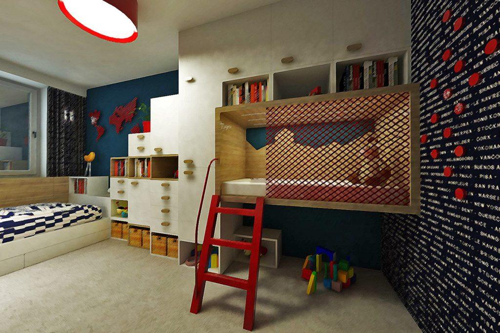 Návrh praktického riešenia detskej izby a pracovne