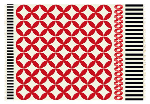 Koberec GAN Kilim Catania, ručne tkaný, 100 % vlna, 200 × 300 cm, 738 €, www.ambientdirect.com