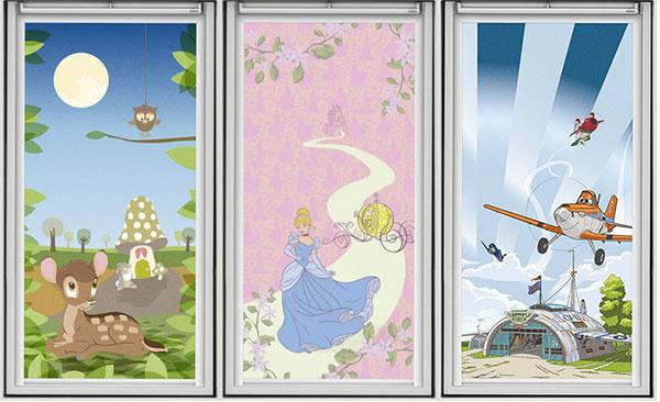 Rolety z Kolekcie snov vytvárajú pokojné prostredie pre zaspávanie a zároveň podporujú predstavivosť u detí. (© Disney)