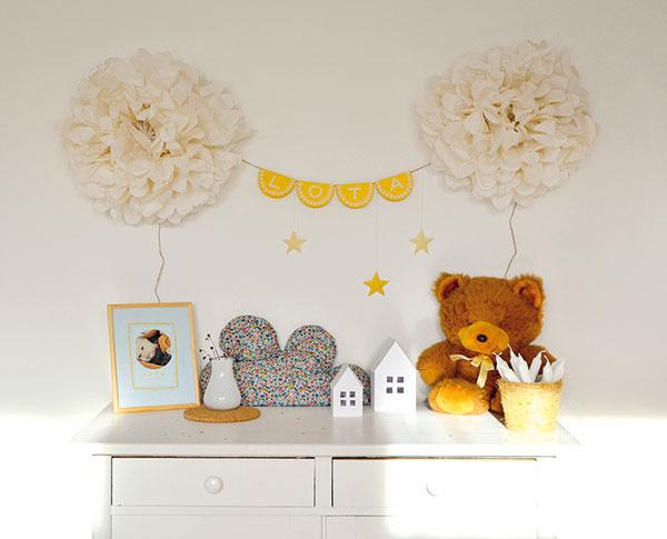 """Papierové či látkové dekorácie sú skvelým nápadom, ako si rýchlo, ale najmä lacno """"zošmrncovniť"""" bývanie. Strihajte avyrábajte rôzne tvary, rôzne vzory, krásne nástenné kvety, ktoré vám dotvoria vaše bývanie. Ak máte doma malých kazisvetov, aspoň vám za týmito dekoráciami nebude smutno. Jednoducho si vyrobíte ďalšie."""
