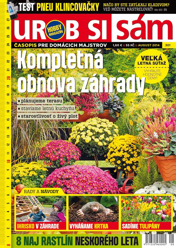 Augustové vydanie časopisu Urob si sám v predaji – NÁDHERNÁ ZÁHRADA!