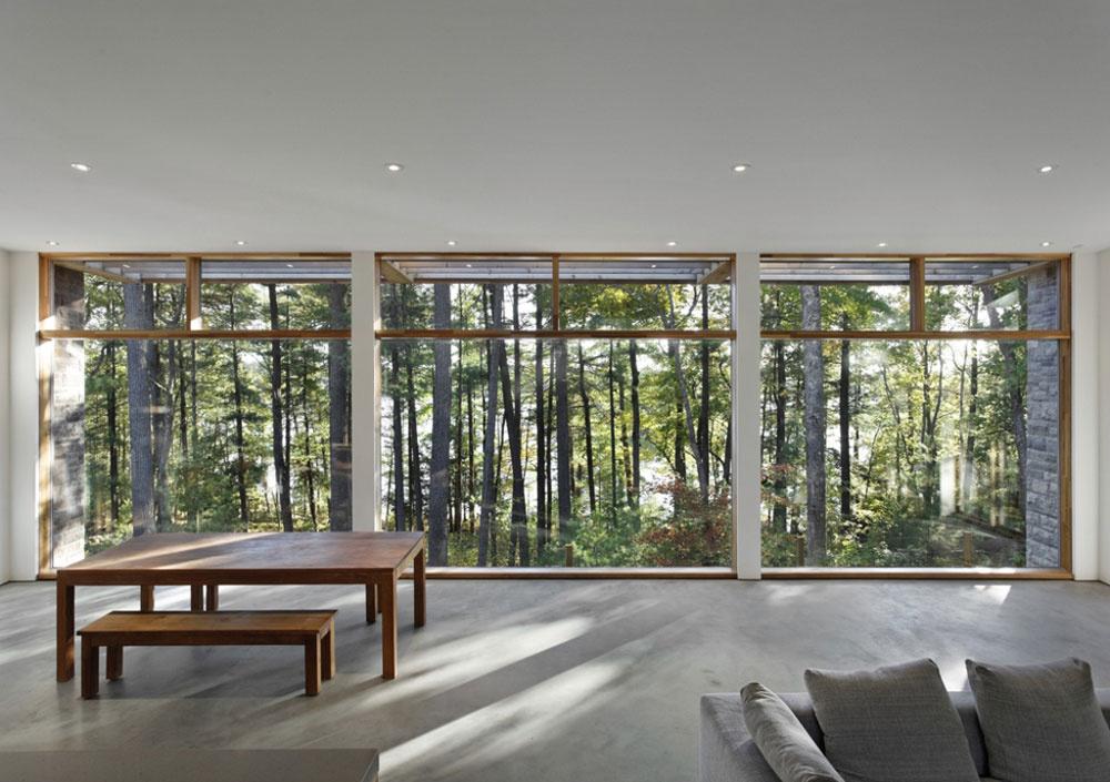Jednoduché zariadenie je iba príjemnou kulisou v predstavení, ktoré rozohrávajú stromy, voda a skaly Tie sa stávajú integrálnou súčasťou celkového dizajnu.